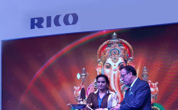 Arvind Kapur, Chairman, CEO & MD, Rico Auto at the lamp lighting ceremony of 4-Wheeler aftermarket Products announcing their foray in to 4-Wheeler Aftermarket