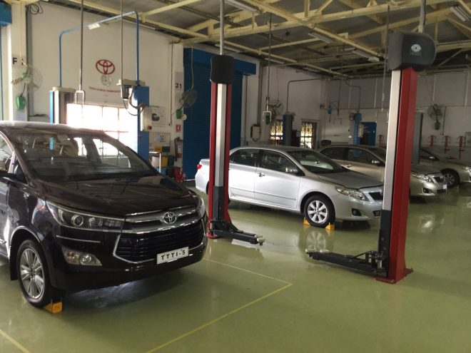 All Toyota model vehicles are available at Toyota Technical Training Institute for students's training