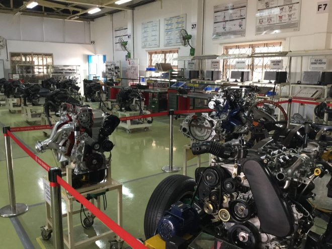 Toyota Technical Training Institute is completely placed with auto systems for students to get trained