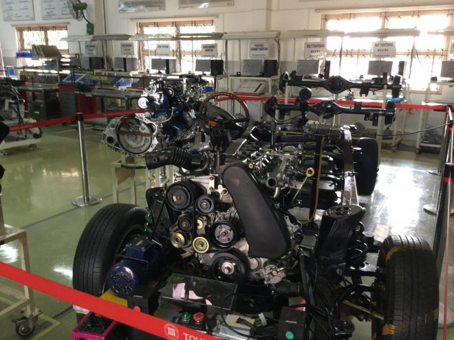 Heavy engine systems at Toyota Technical Training Institute